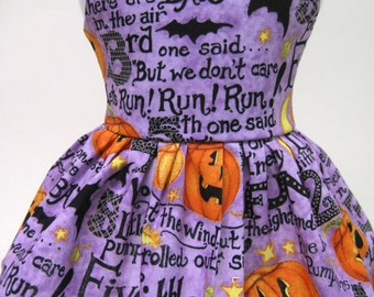 5 Little Pumpkins Halloween Dress for Your American Girl Doll D