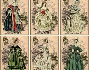 Jane Austen Christmas set 6 small cards