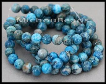 """16"""" Strand - 8mm Crazy Lace AGATE Round Gemstone Beads - Genuine Natural semi precious Opaque Grade B Gemstone - Instant Ship - USA - 6797"""