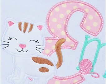 Kitten Alphabet - Appliqued and Personalized - Name spelled out using kitten font