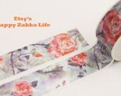 Rose in Mist - Japanese Washi Masking Tape - 11 Yards