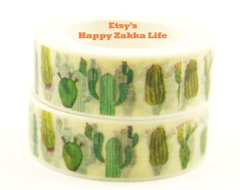 cactus - Japanese Washi Masking Tape - 11 yards