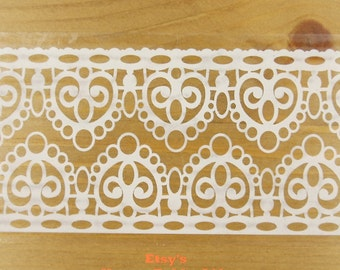 Translucent Wide Sticker Tape - White Lace Vol. 2 - Ver. 1 - 48mm Wide - 16 Yards