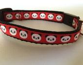 """1/2"""" Width Cat Collar - Panda"""