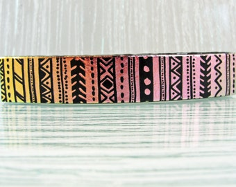 Large Dichroic Fused Glass Barrette - Pink, Gold and Black Barrette, Hair Tie, Hair Pin, Gifts for Her, for Women, Gifts Under 35 Dollars
