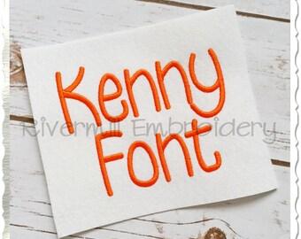 Kenny Machine Embroidery Font Monogram Alphabet - 3 Sizes