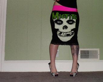 Misfits - Fiend - Black Pencil Skirt