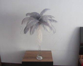 100  Silver Ostrich Feather Plume for Wedding centerpieces AA quality