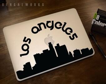 Los Angeles Skyline Macbook Decal 2   Macbook Sticker   Laptop Decal   Laptop Sticker   Car Sticker