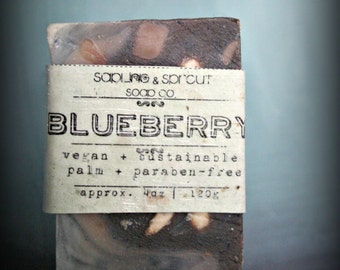 Blueberry Vegan Soap, handmade cold process soap