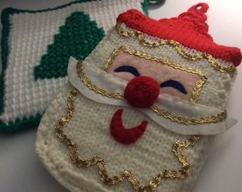 Christmas Potholders Santa Vintage