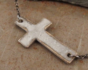 Christian Bronze Cross Oxidized  Necklace Jewelry for Women