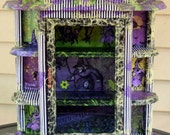 Purple and Green Wicked Witch of The West Wizard of Oz Collage Curio Cabinet