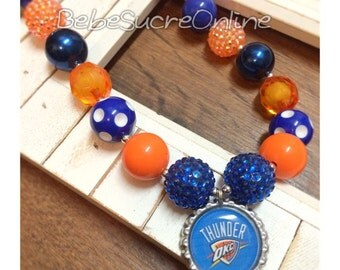Oklahoma City Thunder Chunky Bubblegum Necklace