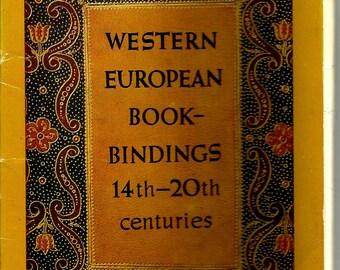 Western European Book Bindings 14th-20th centuries, Vintage Postcard set of 16 unused 1977