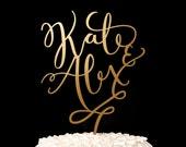 Wedding Cake Topper - Custom cake topper - Gold cake topper - Joyful Collection