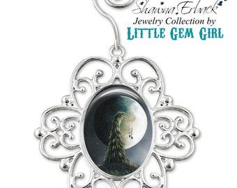 Christmas Tree Ornament - Full Moon Ornament - Christmas Tree Charm - Music Christmas Tree Ornament Artwork by Shawna Erback