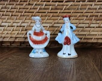 Miniature Firgurine Couple Made In Japan