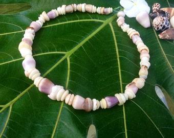 Hawaiian Puka Shell Lei Rare Cone Puka Shells Endemic  Kauai Made Hawaiian Style Gathered Eco Freindly Endangered reef Gems