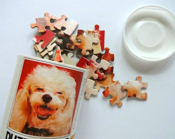 Vintage 1978 Puzzle Pets Poodle