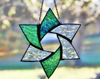 Stained Glass Star of David