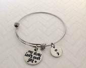 My story isn't over yet -  Suicide Awareness Jewelry - Ready To Ship - Hand Stamped Awareness Jewelry - Semi Colon Bracelet - My Story