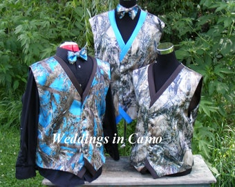 camo vestcamo wedding vest two tone choose your colors