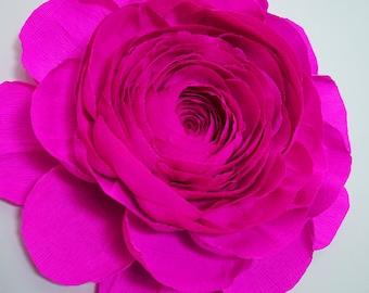 """20"""" Crepe Paper Ranunculus"""