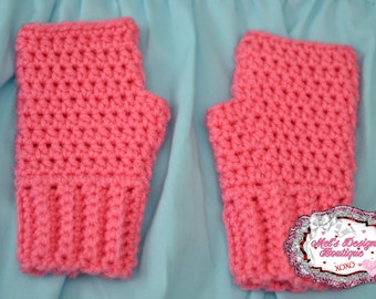Gloves child fingerless gloves, kids crochet gloves, fingerless gloves, crochet fingerless gloves, girls gloves, ready to ship, pink