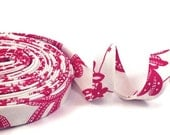 Souvenir Red and White Bias Tape Double Fold- Half Inch