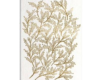 iCanvas Gold Branches Artprint Gallery Wrapped Canvas Art Print by Cat Coquillette