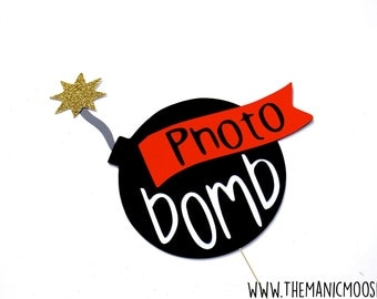 Photo Bomb Photo Booth Prop - Birthdays, Weddings, Parties - Photobooth Props