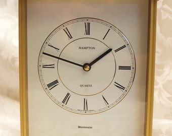 Hampton Quartz Brass Westminster Mantel Clock