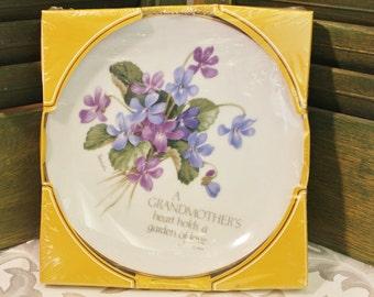 Vintage Lasting Memories Grandmother Plate - Porcelain