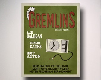 GREMLINS Minimalist Movie Poster / Wall Art / Movie Film Poster