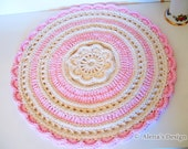 Crochet Pacemat Pattern 156 - Graceful Flower Placemat  - Crochet Patterns - Crochet Doily Pattern - Round Pacemat Pattern - Home Decor