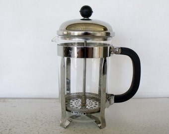 Deluxe French Coffee Press Glass Chrome 24 oz Bonjour