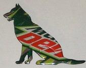 GERMAN SHEPHERD Dog Magnet (Sitting) -  Mountain Dew - Mtn Dew Soda Can (Replica)