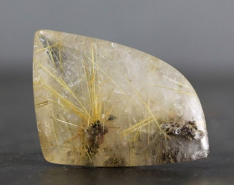 CLEARANCE CLOSEOUT SALE - Destash, Bargain, Discounted, Price Reduced, Budget Jewelry - Gold Rutile Quartz (CA1802)