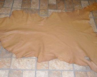 "Leather 7.25 sq ft 41""x20"" Mocha / Cappuccino Goatskin Hide skin with Cationic finish 2.5 oz / 1 mm #352 PeggySueAlso™"