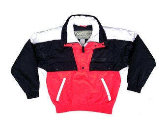 Classic 90s Neon Red Park City Snowboard Jacket - M
