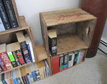 "Vintage ""COLT"" beverage Co. Wooden Crate. Vintage wooden storage Box. Rustic Home Decor. Country cottage decor"