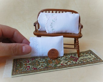 Miniature Pillows - Three Assorted Dollhouse Pillows in 1:12 Scale