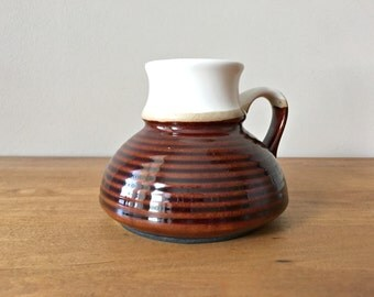 Vintage Travel Mug No Spill Clay Pottery Coffee Mug