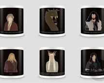 The Hobbit Desolation of Smaug mug - Choose from 6 characters (Made to order)