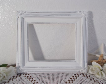 Ornate Baroque Picture Frame White Shabby Chic 8 x 10 Photo Wedding Reception Decoration Cottage French Country Home Decor Gift Her Vintage