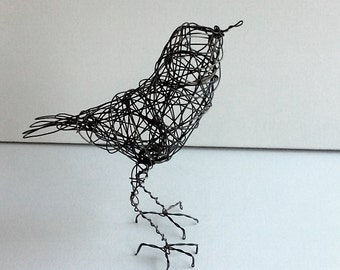 Original Handmade Wire Bird Sculpture - DAMON
