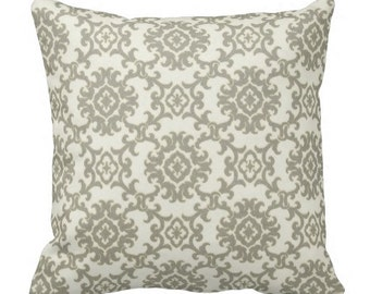 Grey Outdoor Pillows, Grey OUTDOOR Throw Pillows,Patio Decor,Decorative Pillows, Patio Pillows, Medallion Pillows, Pillow Covers