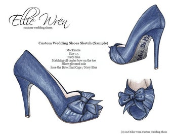 Custom Wedding Shoe: Design Sketch