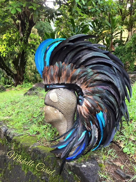 Roni  - Customizable Feather Mohawk / Headdress